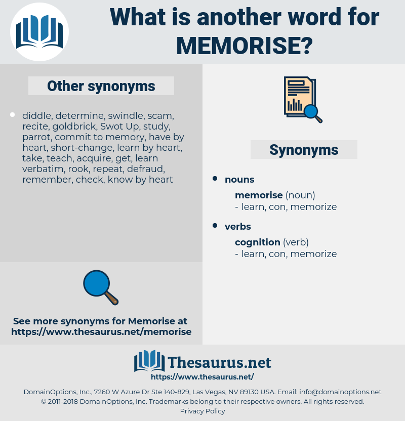 memorise, synonym memorise, another word for memorise, words like memorise, thesaurus memorise