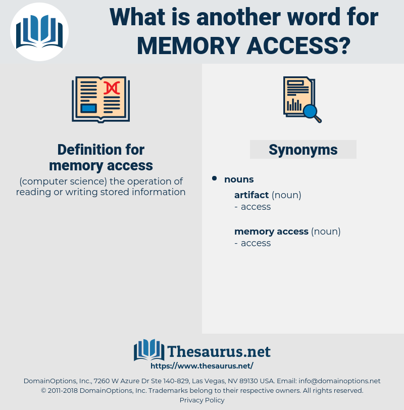 memory access, synonym memory access, another word for memory access, words like memory access, thesaurus memory access