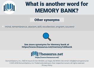 memory bank, synonym memory bank, another word for memory bank, words like memory bank, thesaurus memory bank
