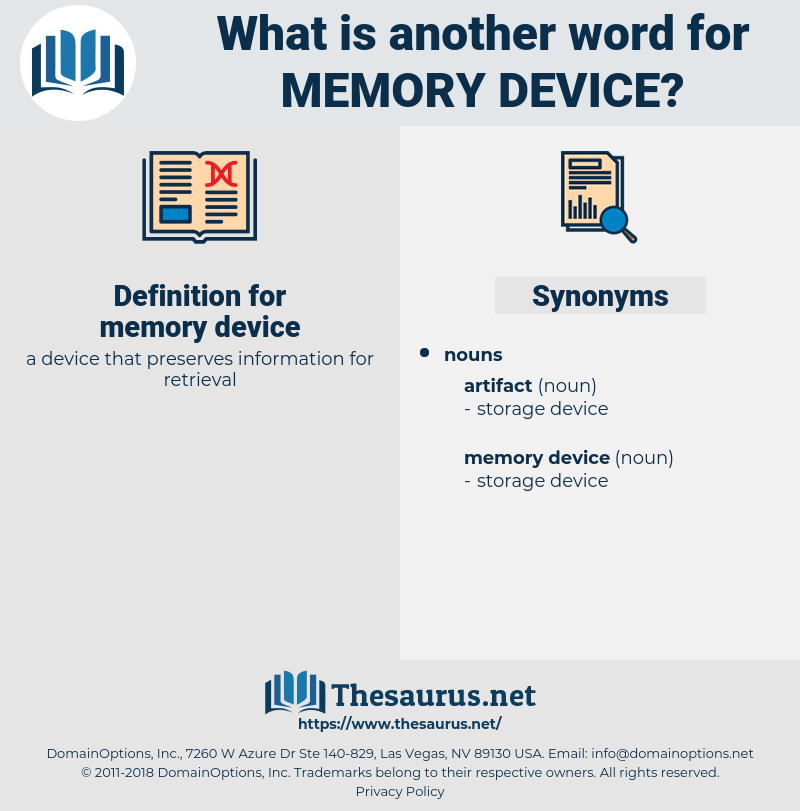 memory device, synonym memory device, another word for memory device, words like memory device, thesaurus memory device