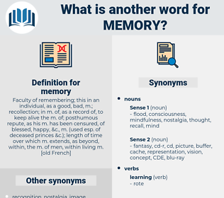 memory, synonym memory, another word for memory, words like memory, thesaurus memory