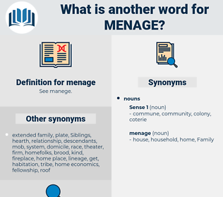menage, synonym menage, another word for menage, words like menage, thesaurus menage