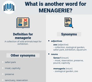 menagerie, synonym menagerie, another word for menagerie, words like menagerie, thesaurus menagerie