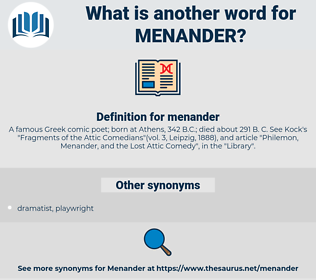 menander, synonym menander, another word for menander, words like menander, thesaurus menander