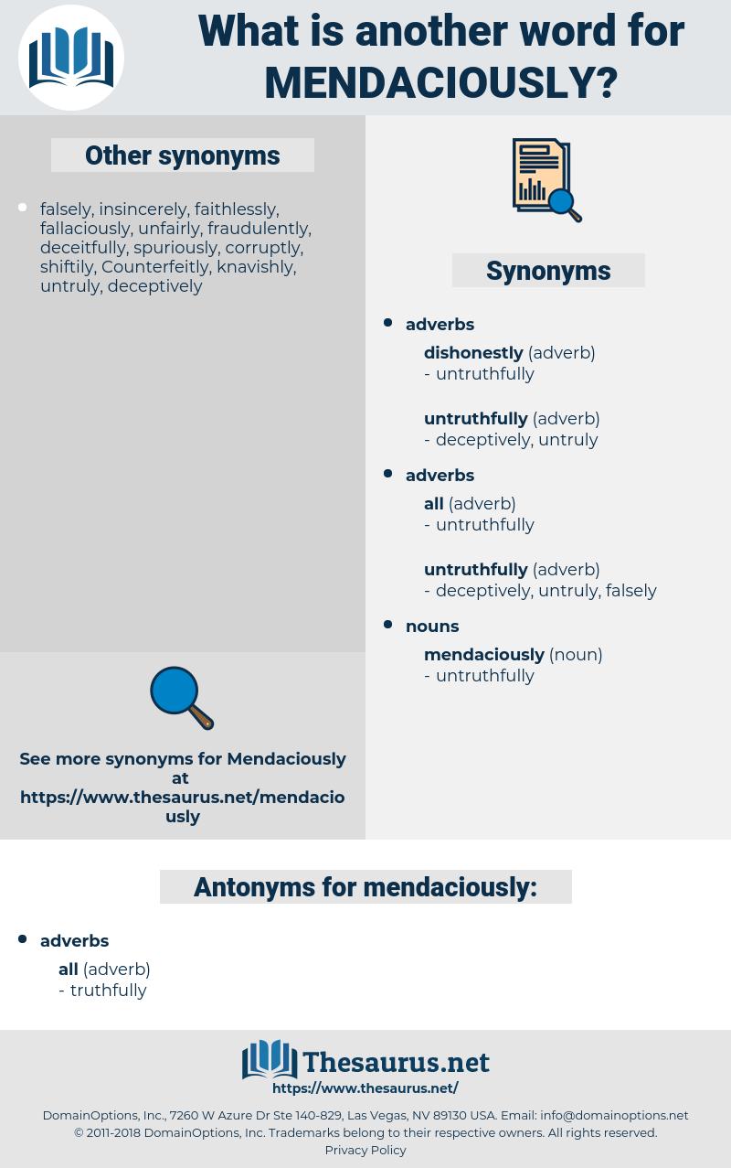 mendaciously, synonym mendaciously, another word for mendaciously, words like mendaciously, thesaurus mendaciously