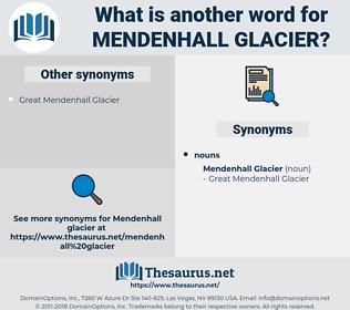 Mendenhall Glacier, synonym Mendenhall Glacier, another word for Mendenhall Glacier, words like Mendenhall Glacier, thesaurus Mendenhall Glacier