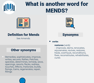 Mends, synonym Mends, another word for Mends, words like Mends, thesaurus Mends
