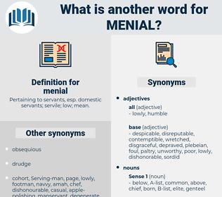 menial, synonym menial, another word for menial, words like menial, thesaurus menial