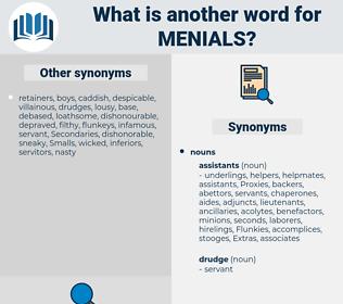 menials, synonym menials, another word for menials, words like menials, thesaurus menials