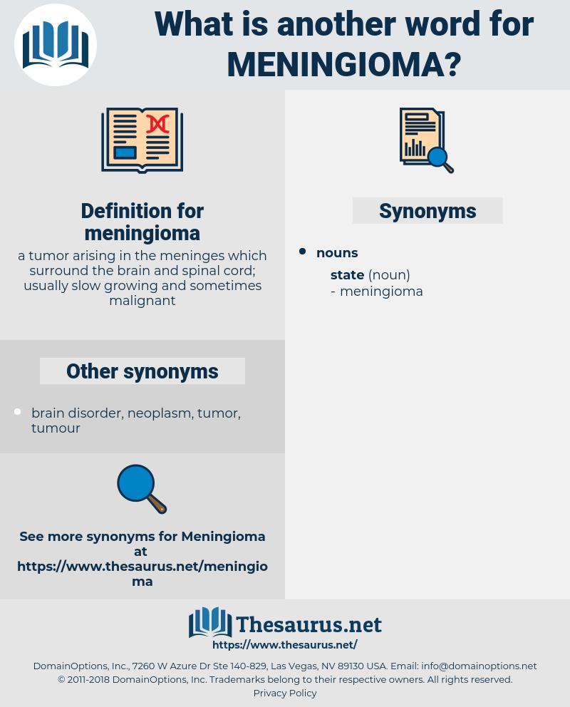 meningioma, synonym meningioma, another word for meningioma, words like meningioma, thesaurus meningioma
