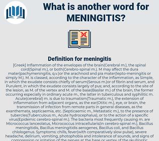 meningitis, synonym meningitis, another word for meningitis, words like meningitis, thesaurus meningitis