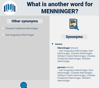 menninger, synonym menninger, another word for menninger, words like menninger, thesaurus menninger