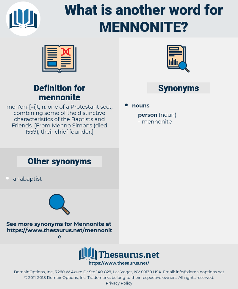 mennonite, synonym mennonite, another word for mennonite, words like mennonite, thesaurus mennonite