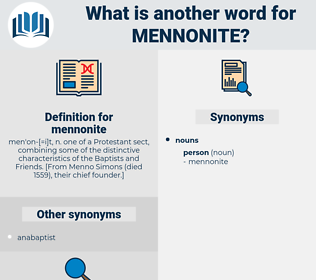 mennonite, synonym mennonite, another word for mennonite, words like mennonite, thesaurus mennonite