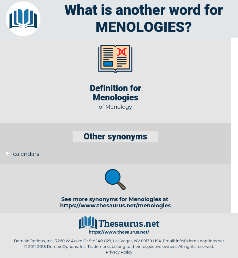 Menologies, synonym Menologies, another word for Menologies, words like Menologies, thesaurus Menologies