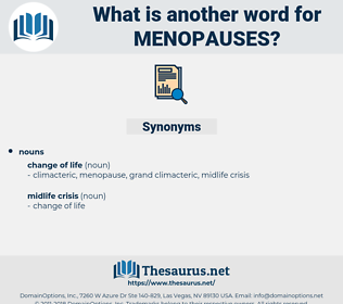 menopauses, synonym menopauses, another word for menopauses, words like menopauses, thesaurus menopauses