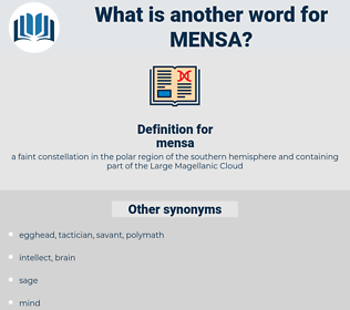 mensa, synonym mensa, another word for mensa, words like mensa, thesaurus mensa
