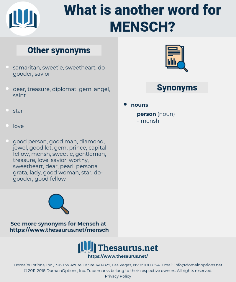 mensch, synonym mensch, another word for mensch, words like mensch, thesaurus mensch