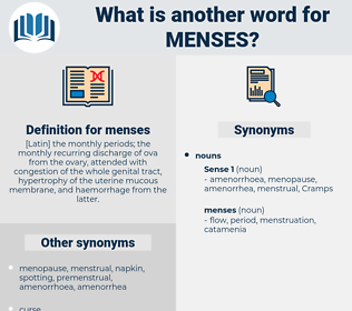 menses, synonym menses, another word for menses, words like menses, thesaurus menses