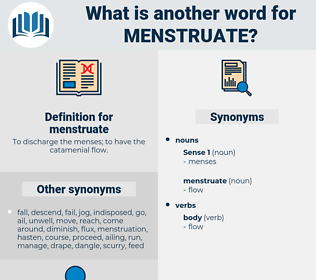 menstruate, synonym menstruate, another word for menstruate, words like menstruate, thesaurus menstruate