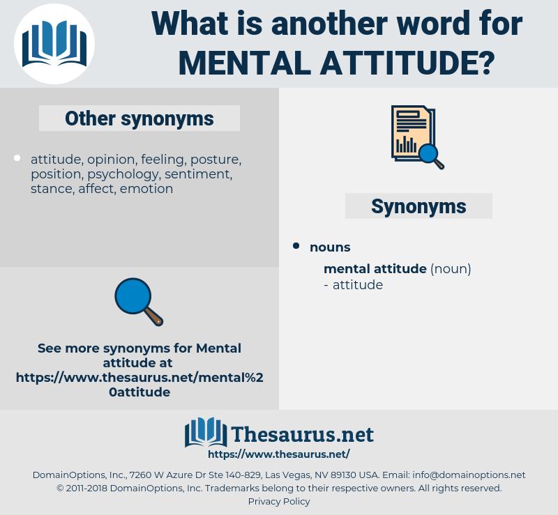 mental attitude, synonym mental attitude, another word for mental attitude, words like mental attitude, thesaurus mental attitude