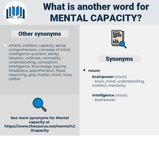 mental capacity, synonym mental capacity, another word for mental capacity, words like mental capacity, thesaurus mental capacity