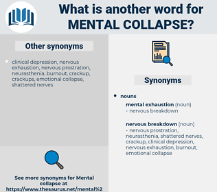 mental collapse, synonym mental collapse, another word for mental collapse, words like mental collapse, thesaurus mental collapse