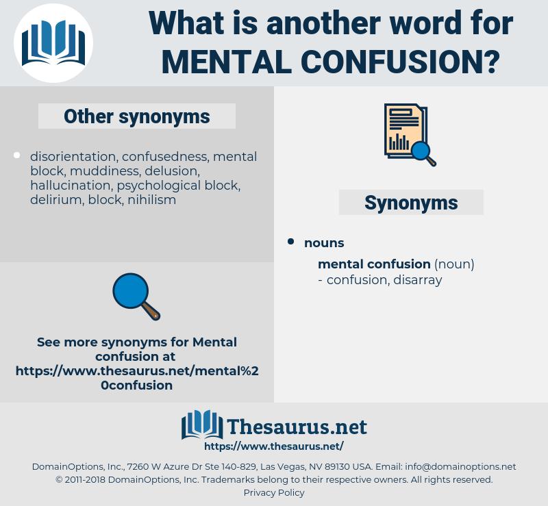 mental confusion, synonym mental confusion, another word for mental confusion, words like mental confusion, thesaurus mental confusion