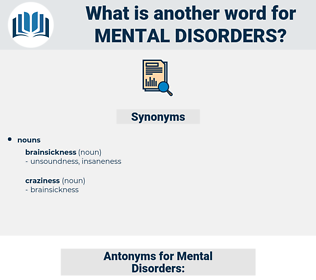 Mental Disorders, synonym Mental Disorders, another word for Mental Disorders, words like Mental Disorders, thesaurus Mental Disorders