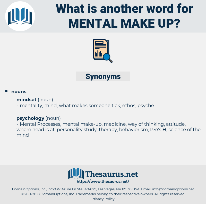 mental make-up, synonym mental make-up, another word for mental make-up, words like mental make-up, thesaurus mental make-up