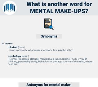 mental make-ups, synonym mental make-ups, another word for mental make-ups, words like mental make-ups, thesaurus mental make-ups