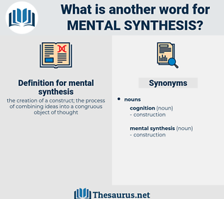 mental synthesis, synonym mental synthesis, another word for mental synthesis, words like mental synthesis, thesaurus mental synthesis