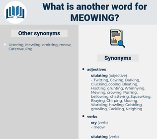 meowing, synonym meowing, another word for meowing, words like meowing, thesaurus meowing
