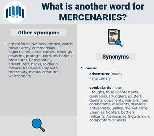 Mercenaries, synonym Mercenaries, another word for Mercenaries, words like Mercenaries, thesaurus Mercenaries