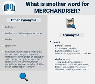 merchandiser, synonym merchandiser, another word for merchandiser, words like merchandiser, thesaurus merchandiser