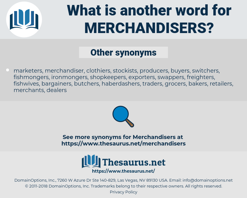 merchandisers, synonym merchandisers, another word for merchandisers, words like merchandisers, thesaurus merchandisers