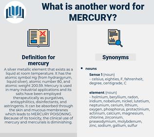 mercury, synonym mercury, another word for mercury, words like mercury, thesaurus mercury