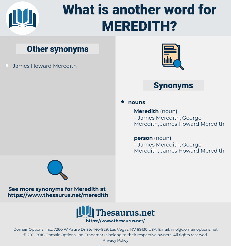 meredith, synonym meredith, another word for meredith, words like meredith, thesaurus meredith