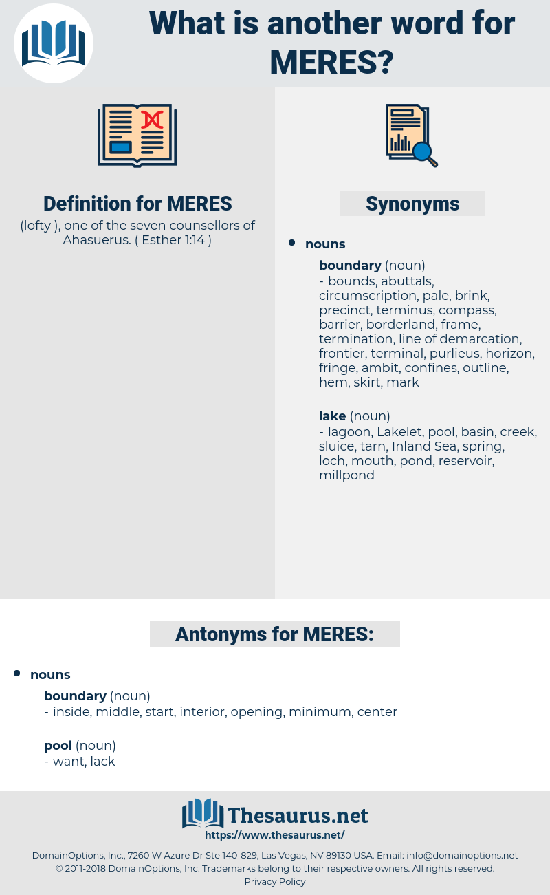 MERES, synonym MERES, another word for MERES, words like MERES, thesaurus MERES