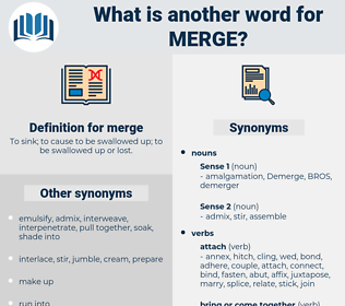 merge, synonym merge, another word for merge, words like merge, thesaurus merge