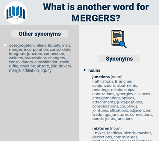 mergers, synonym mergers, another word for mergers, words like mergers, thesaurus mergers