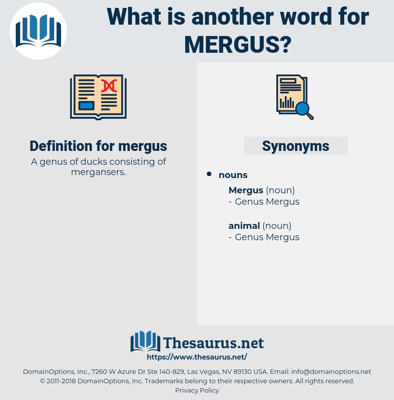 mergus, synonym mergus, another word for mergus, words like mergus, thesaurus mergus