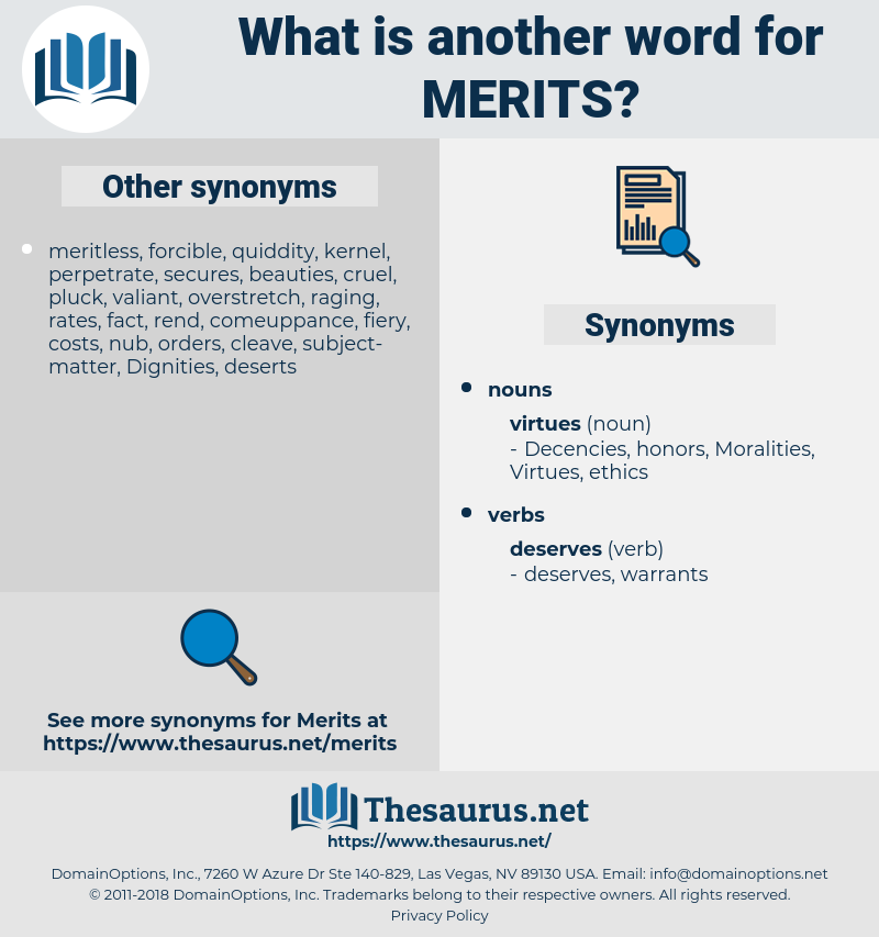 merits, synonym merits, another word for merits, words like merits, thesaurus merits