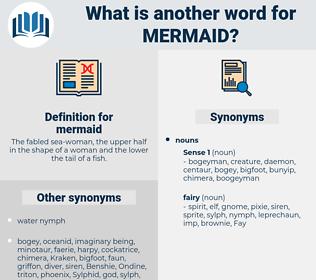 mermaid, synonym mermaid, another word for mermaid, words like mermaid, thesaurus mermaid