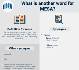 mesa, synonym mesa, another word for mesa, words like mesa, thesaurus mesa