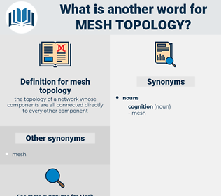 mesh topology, synonym mesh topology, another word for mesh topology, words like mesh topology, thesaurus mesh topology