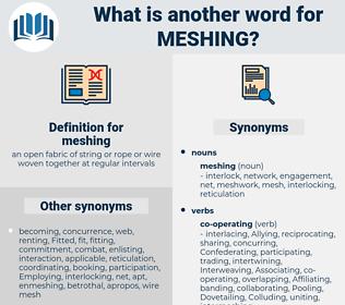 meshing, synonym meshing, another word for meshing, words like meshing, thesaurus meshing