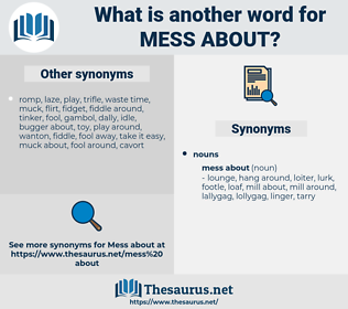mess about, synonym mess about, another word for mess about, words like mess about, thesaurus mess about