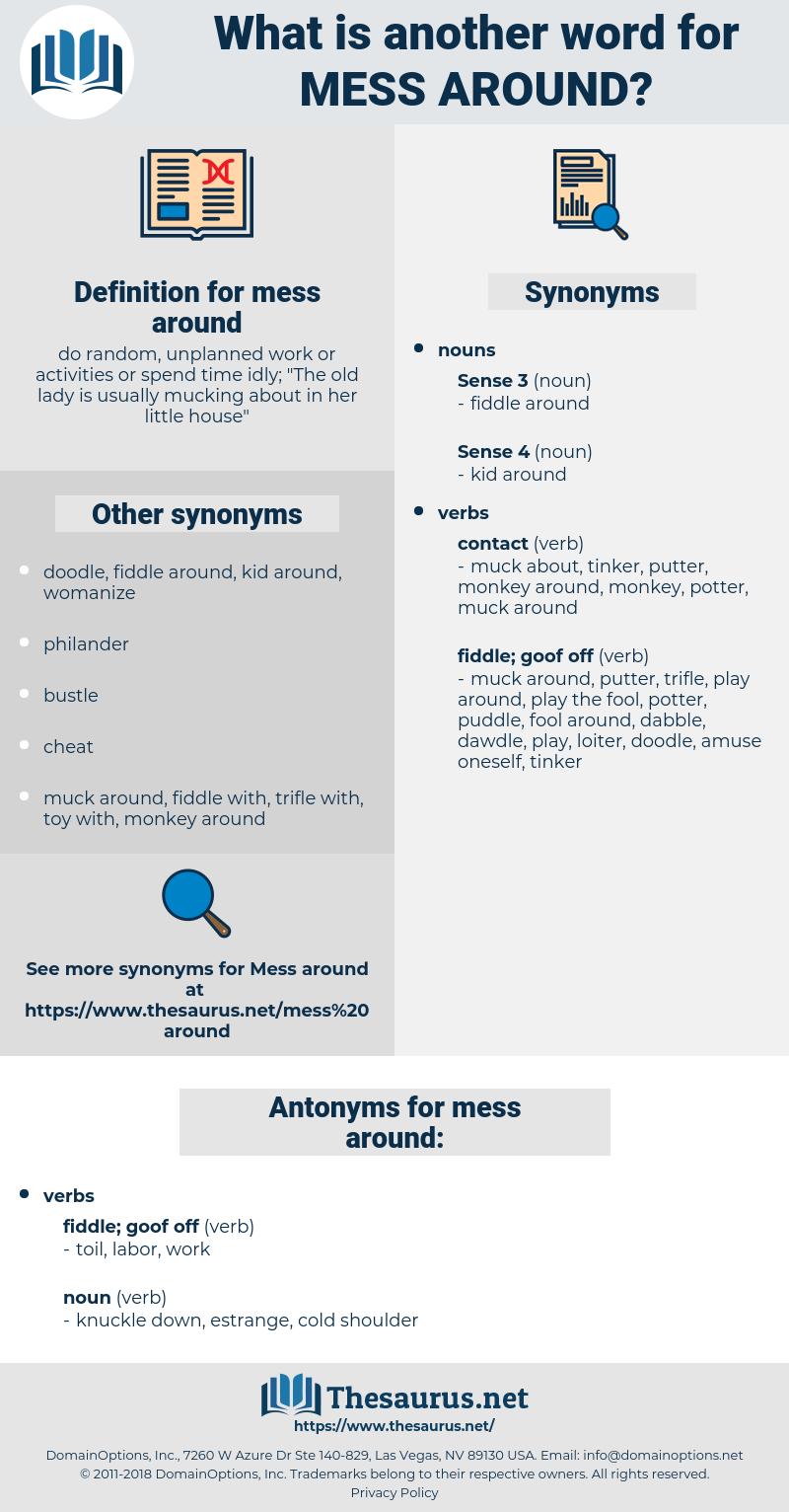 mess around, synonym mess around, another word for mess around, words like mess around, thesaurus mess around