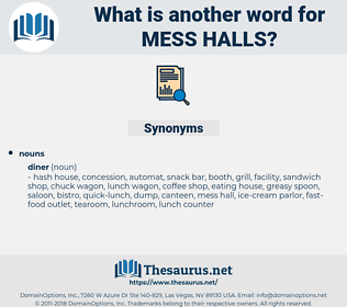 mess halls, synonym mess halls, another word for mess halls, words like mess halls, thesaurus mess halls